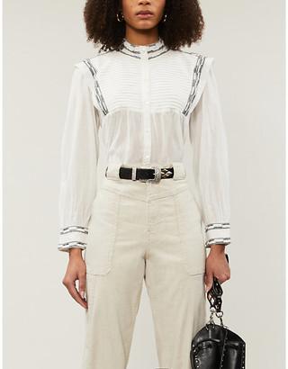 BA&SH Mousse embroidered gauze shirt
