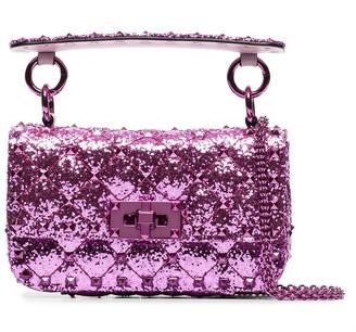 Valentino mini Spike glitter-effect bag