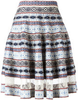 Alexander McQueen striped full skirt