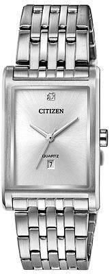 Citizen Quartz Mens Silver Tone Stainless Steel Bracelet Watch-Bh3001-57a Family