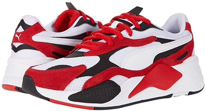 RS-X3 Super White/High Risk Red) Men's Shoes