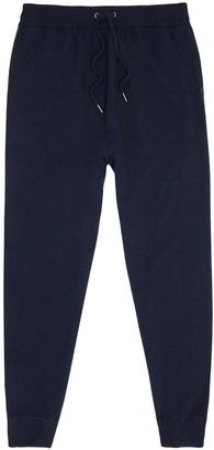 Derek Rose Finley navy cashmere pyjama trousers