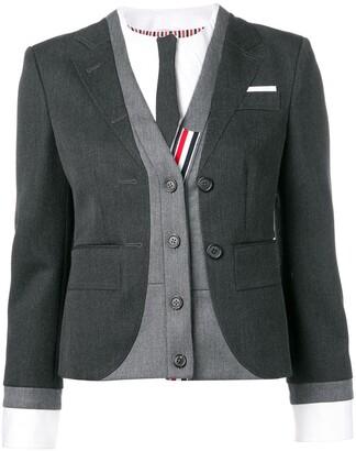 Thom Browne Trompe L'Oeil Suit Sport Coat