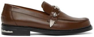 Toga Virilis Brown Leather Loafers