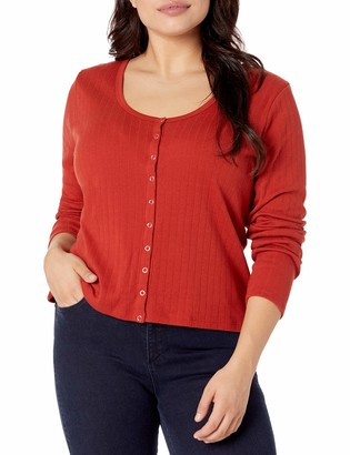 Forever 21 Women's Plus Size Ribbed Button-Front Top