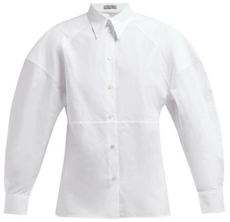Bottega Veneta Detachable-collar Cotton-poplin Shirt - White