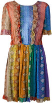 Just Cavalli patterned pleat dress - women - Viscose - 44
