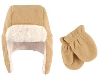 Hudson Baby Boy Traper Fleece Hat & Mittens 2pc Set