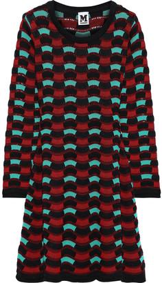M Missoni Crocheted Cotton-blend Mini Dress