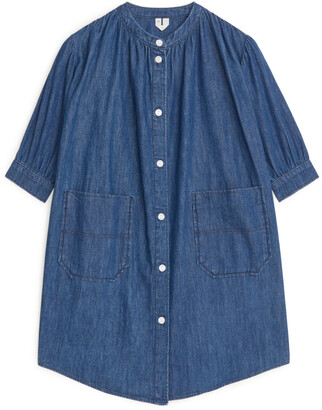 Arket Denim Button-Up Dress