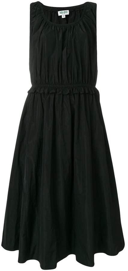 Kenzo ruffle trim waist dress