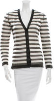 Oscar de la Renta Striped Silk Cardigan
