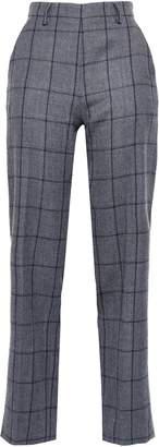 Piazza Sempione Checked Wool-blend Straight-leg Pants Pants