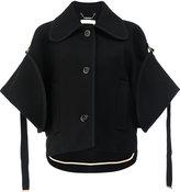 Chloé cropped cape sleeve jacket - women - Viscose/Virgin Wool/Polyamide - 36