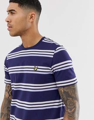 Lyle & Scott multi stripe t-shirt in navy