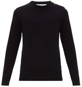 Givenchy - Logo Button Cotton Sweater - Mens - Black