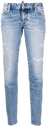 DSQUARED2 Low-Rise Bleach Effect Jeans