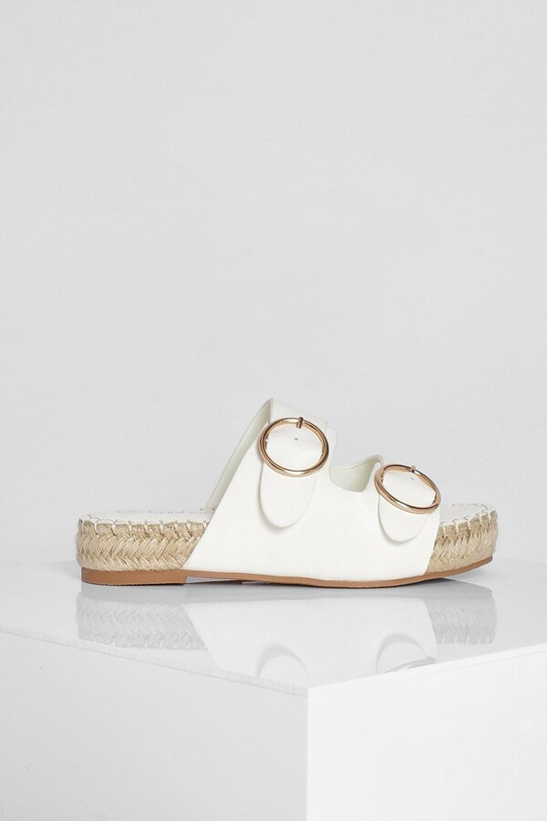 Thumbnail for your product : boohoo Double Buckle Espadrille Flatform