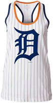 5th & Ocean Women's Detroit Tigers Pinstripe Glitter Tank Top