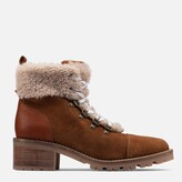 Thumbnail for your product : Clarks Women's Roseleigh Sky Suede Heeled Hiking Style Boots - Dark Tan