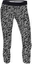 Soffe Black & White Zebra Capri Leggings