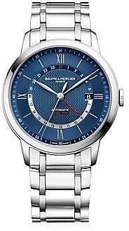 Baume & Mercier Women's Classima Dual Time Stainless Steel Bracelet Watch