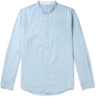 Frame Grandad-Collar Cotton-Chambray Shirt