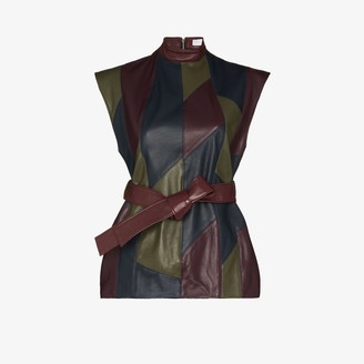 Richard Malone Recycled Leather Patchwork Top
