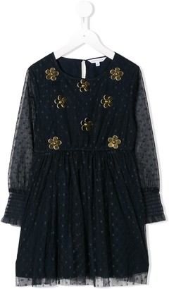 Little Marc Jacobs floral embroidered party dress