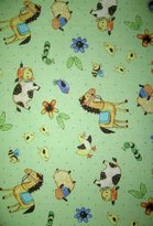 N. SheetWorld Fitted Pack Play Sheet - Barnyard Animals - Made In USA