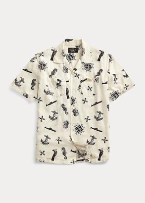 Ralph Lauren Nautical-Print Camp Shirt