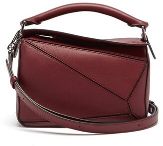 Loewe Puzzle Small Leather Cross-body Bag - Burgundy