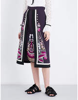 Temperley London Parchment embroidered crepe skirt