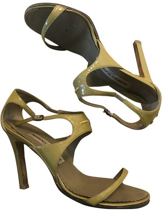 Manolo Blahnik Green Patent leather Heels