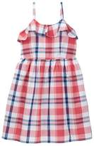 Joe Fresh Plaid Ruffle Dress (Little Girls & Big Girls)