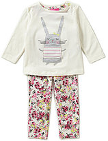 Joules Baby Girls Newborn-12 Months Rabbit-Appliqued Top & Floral Trousers Set