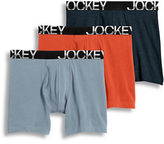 Jockey Active Stretch Midway Boxer Briefs/Set Of 3