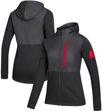 adidas Women's Black Chicago Blackhawks Game Mode Full-Zip Jacket