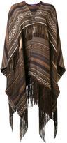 Ralph Lauren ethnic motif knit poncho