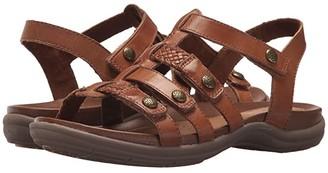 Cobb Hill Rubey T Strap (Black Leather) Women's Shoes