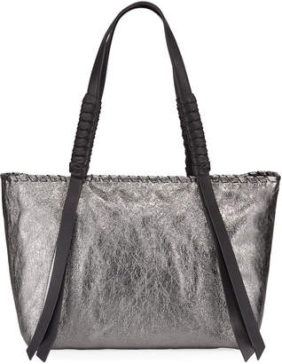 AllSaints Miki Leather Small East/West Tote Bag