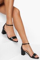 Thumbnail for your product : boohoo Low Block 2 Part Sandal