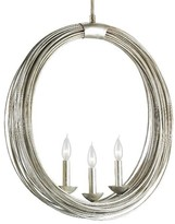 The Well Appointed House Antique Silver Leaf Round Band Chandelier