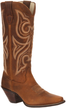 Durango Women's Western Boots DISTRESSED - Brown & White Jealousy Leather Cowboy Boot - Women