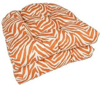 World Menagerie Zebra Sunrise Indoor/Outdoor Dining Chair Cushion