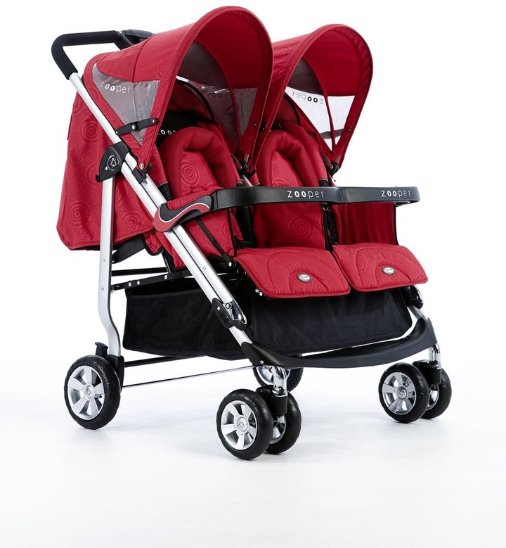 Zooper Tango Double Stroller - Red Waves