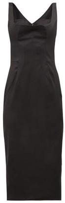 Dolce & Gabbana Satin Midi Dress - Black