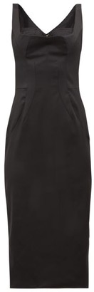 Dolce & Gabbana Satin Midi Dress - Womens - Black