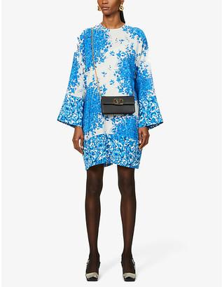 Valentino Floral-print crepe mini dress