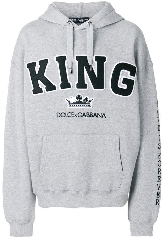 Dolce & Gabbana King patch hoodie